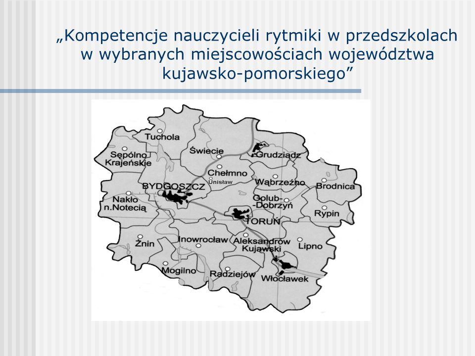 Kompetencje nauczycieli rytmiki w przedszkolach w wybranych miejscowościach województwa kujawsko-pomorskiego