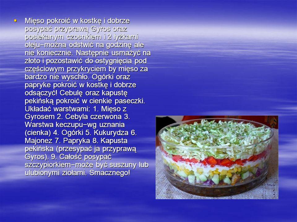 Informacje o przepisie: Informacje o przepisie: Liczba porcji: 4 Liczba porcji: 4 Kalorie w 1 porcji: 398 kcal Przygotowanie: 20 min.