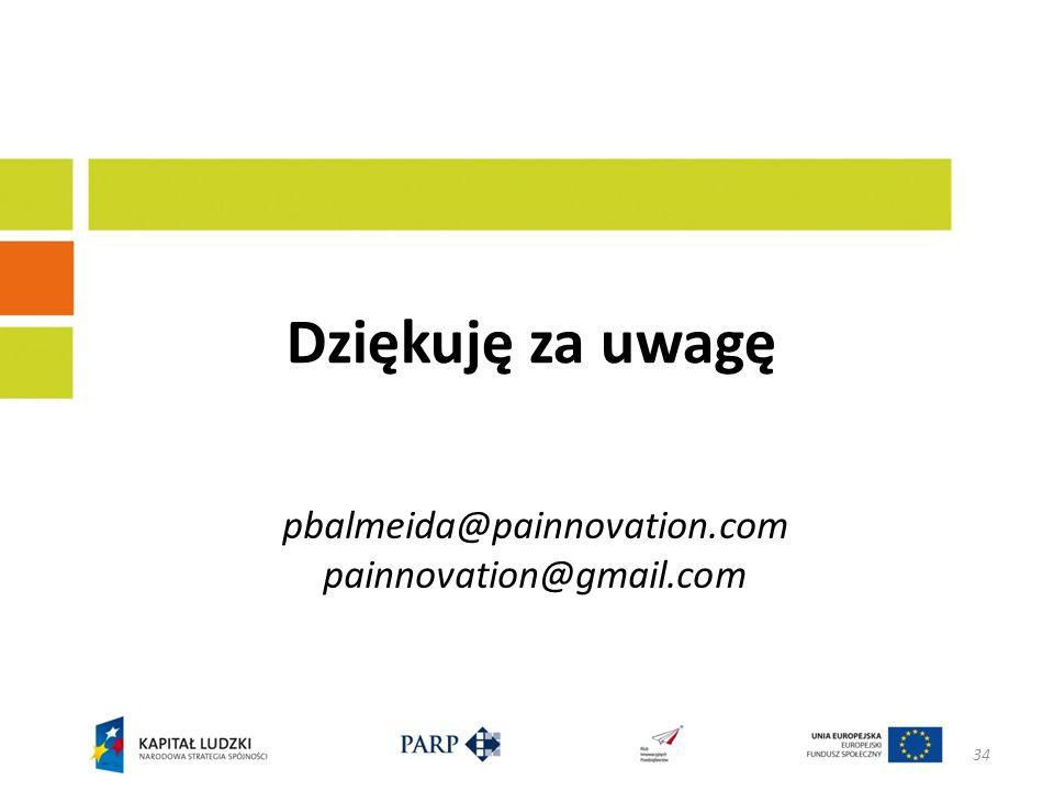 pbalmeida@painnovation.com painnovation@gmail.com Dziękuję za uwagę 34