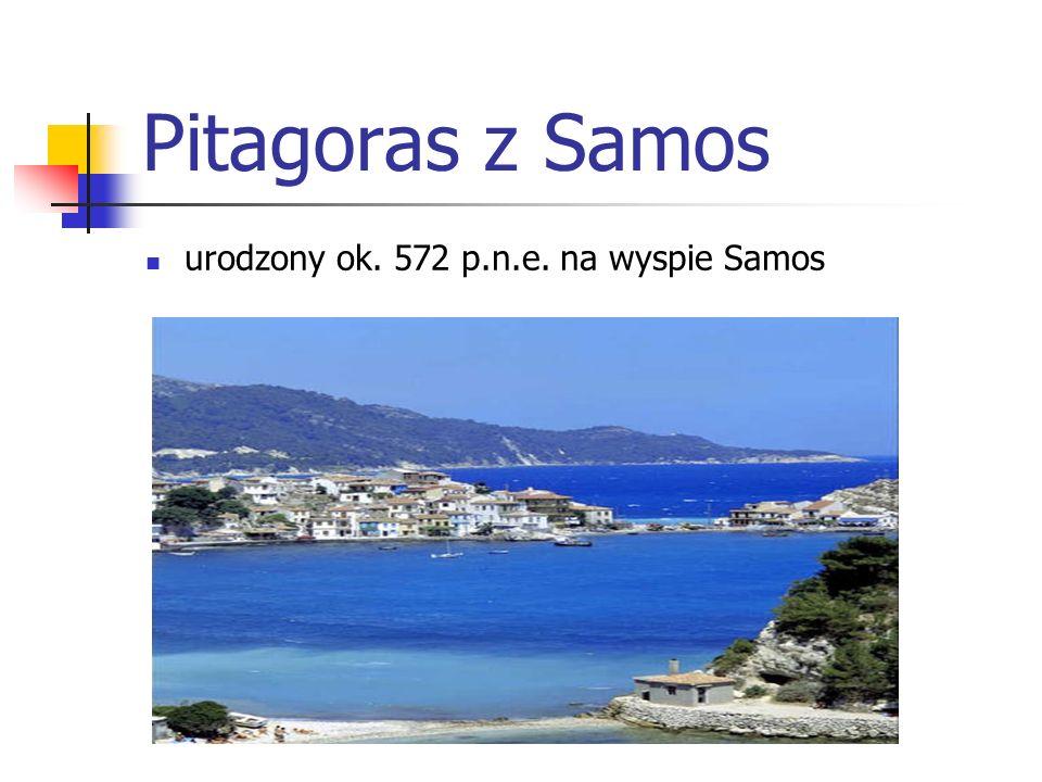 Pitagoras zmarł ok.497 p.n.e.