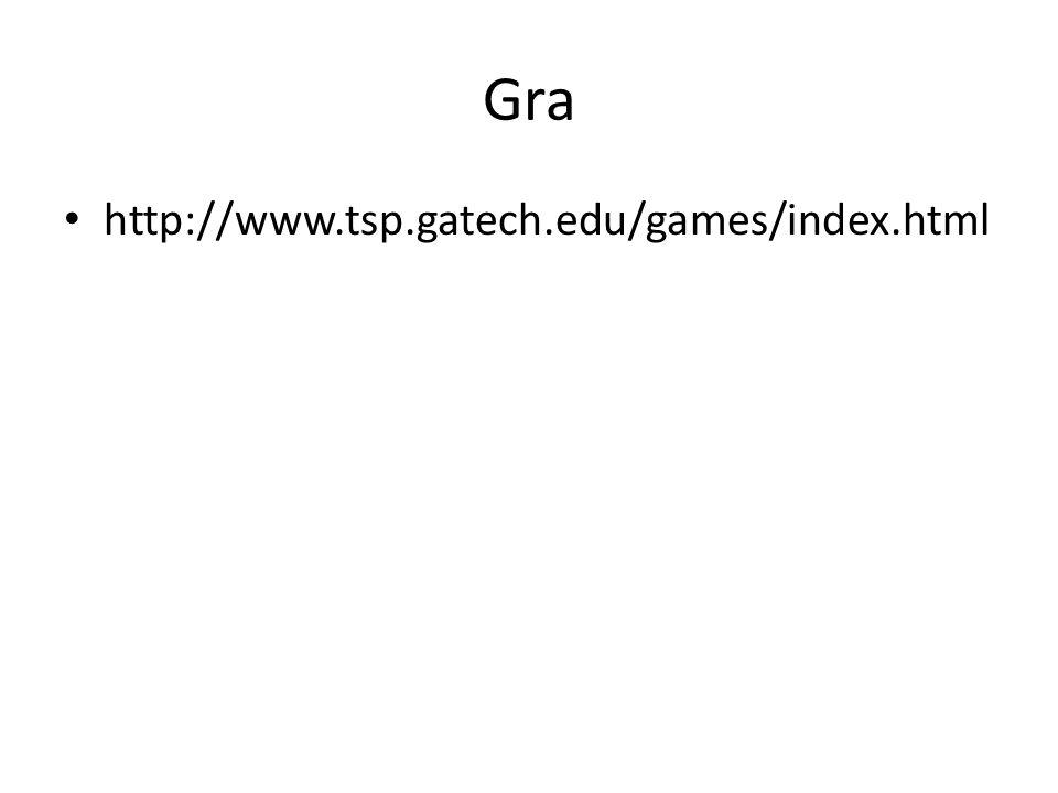 Gra http://www.tsp.gatech.edu/games/index.html
