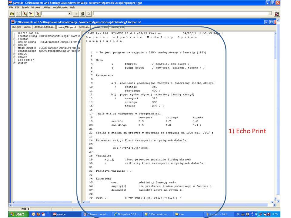 1) Echo Print