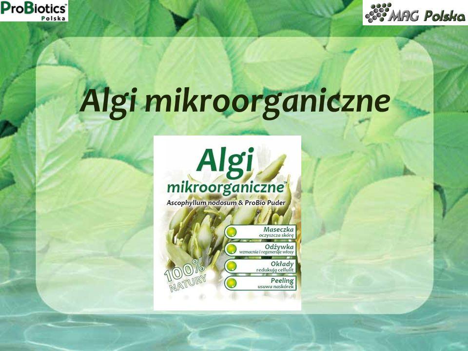 do dowolnej odżywki do włosów dodać ½ łyżeczki Alg mikroorganicznych, intensywnie wymieszać, a następnie nanieść na całą długość włosów; po upływie czasu podanego na odżywce należy spłukać włosy letnią wodą.