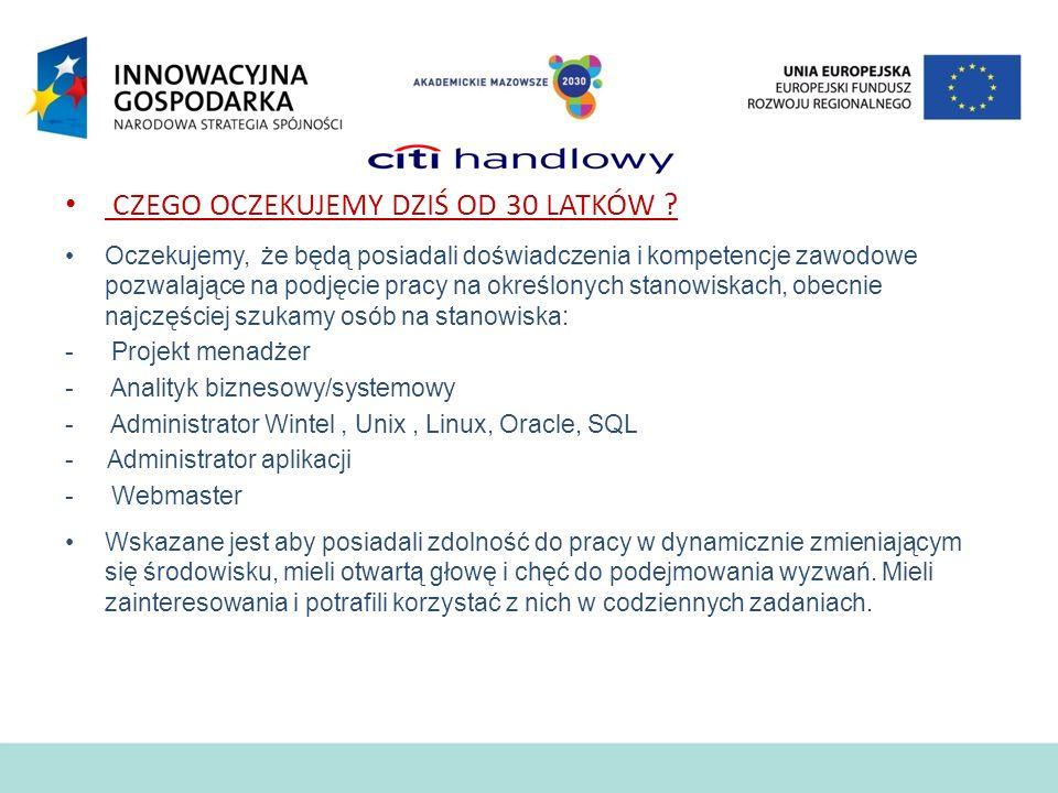 I Targi Pracy ICT PJWSTK Warszawa, 16 czerwca 2011 r. Absolwent idealny, kto bliżej pracy w ATM?