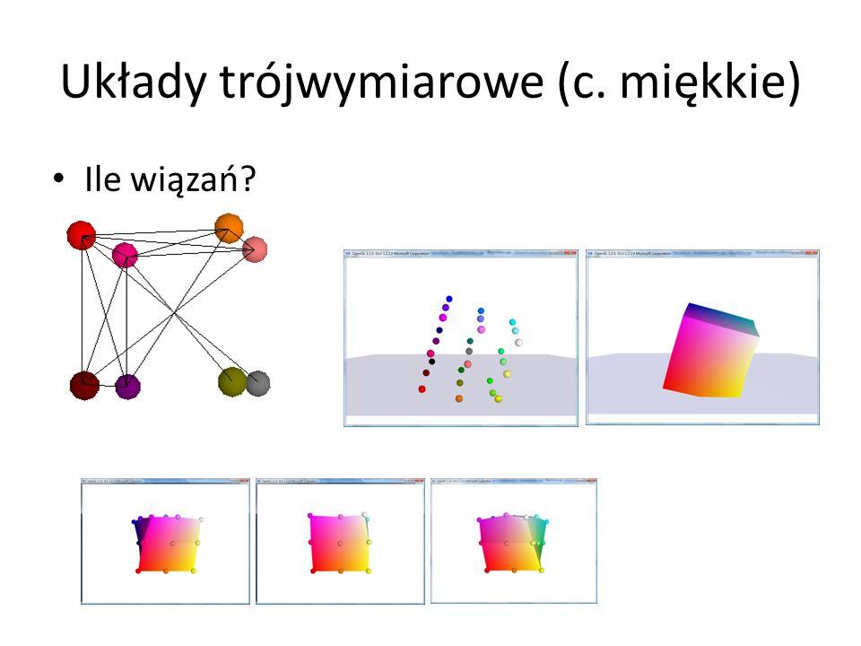 Układy trójwymiarowe (c. miękkie) Ile wiązań?
