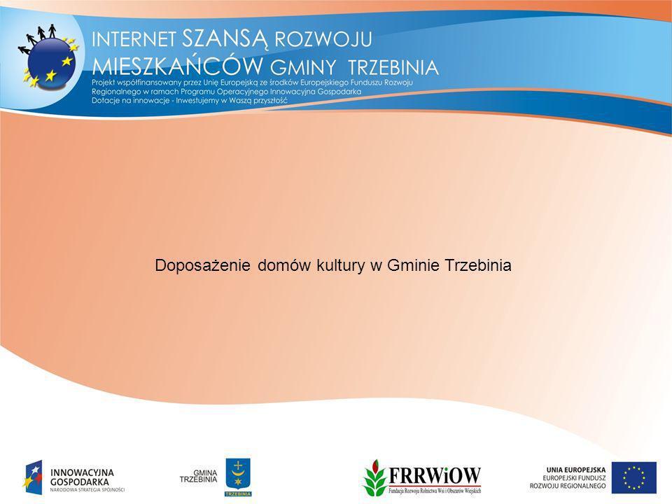 Doposażenie domów kultury w Gminie Trzebinia