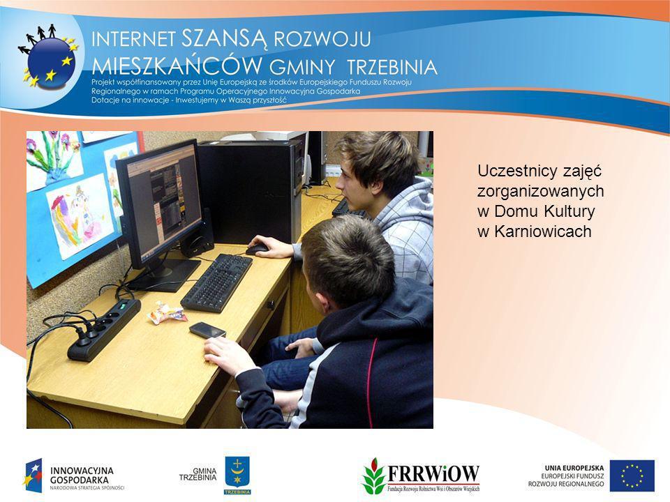 Uczestnicy zajęć zorganizowanych w Domu Kultury w Karniowicach