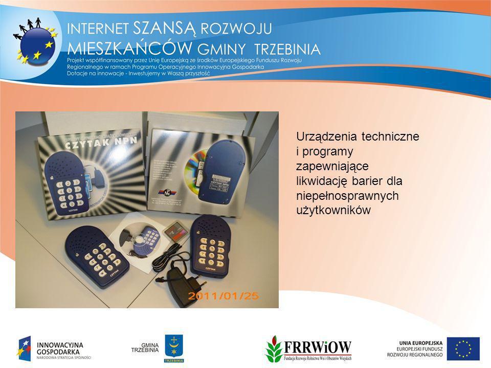 Urządzenia techniczne i programy zapewniające likwidację barier dla niepełnosprawnych użytkowników