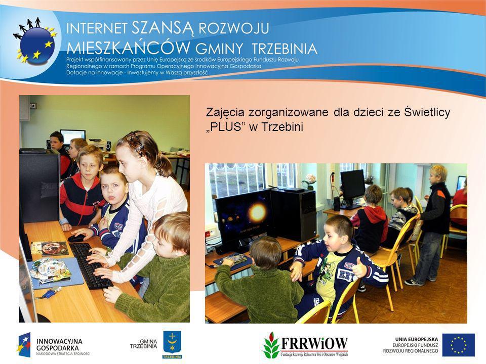 Zajęcia zorganizowane dla dzieci ze Świetlicy PLUS w Trzebini