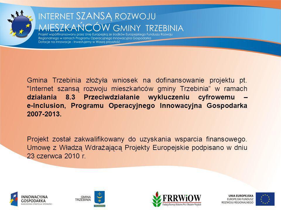 Gmina Trzebinia złożyła wniosek na dofinansowanie projektu pt.