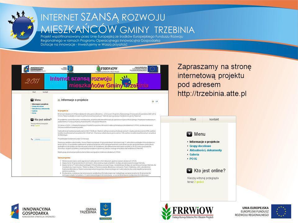 Zapraszamy na stronę internetową projektu pod adresem http://trzebinia.atte.pl