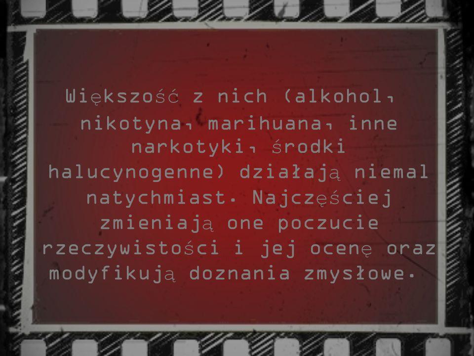 5.Typ amfetaminowy - wyra ż a si ę du żą zale ż no ś ci ą psychiczn ą i mniejsz ą zale ż no ś ci ą fizyczn ą.