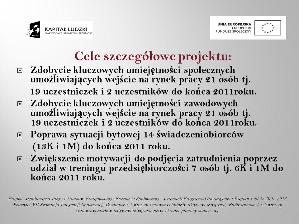 Zadania realizowane w ramach projektu: Aktywna integracja (Kontrakt Socjalny, Program Aktywno ś ci Lokalnej).