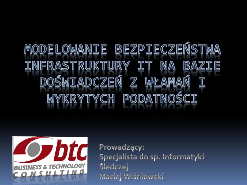 2 Tytułem wstępu: Podatności i zagrożenia w sieciach komputerowych, w kontekście realiów polskich, Ryzyko wycieku tajnych informacji, Fakty i mity o systemach IPS, Ochrona danych i zasobów IT.