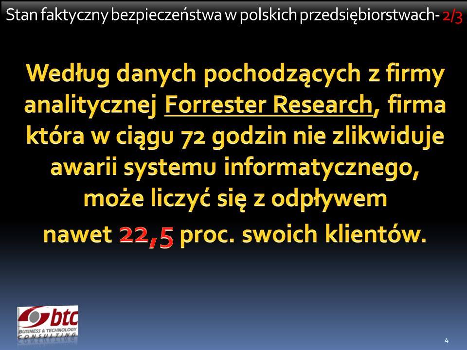 4 Stan faktyczny bezpieczeństwa w polskich przedsiębiorstwach- 2/3