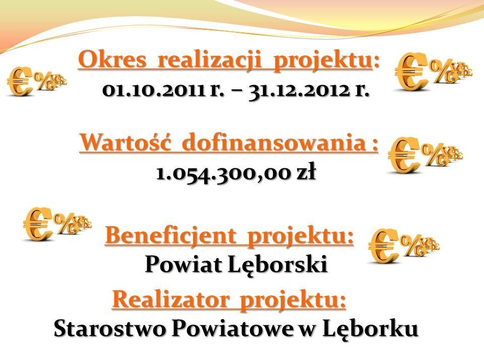 Okres realizacji projektu: 01.10.2011 r. – 31.12.2012 r.