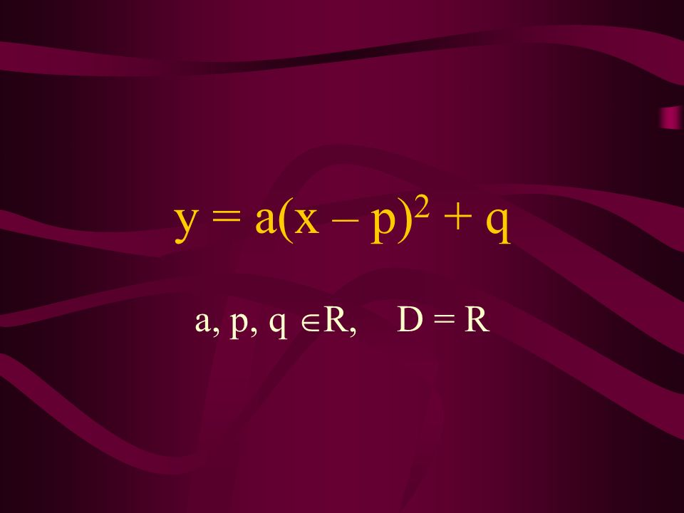 LEKCJA 4 Funkcja y = a(x - p) 2 + q i jej własności