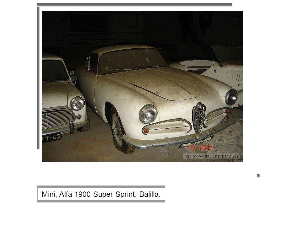Mini, Alfa 1900 Super Sprint, Balilla.