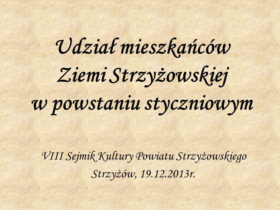 W bitwie miechowskiej walczył także ur.w Pstrągowej w 1844 r.