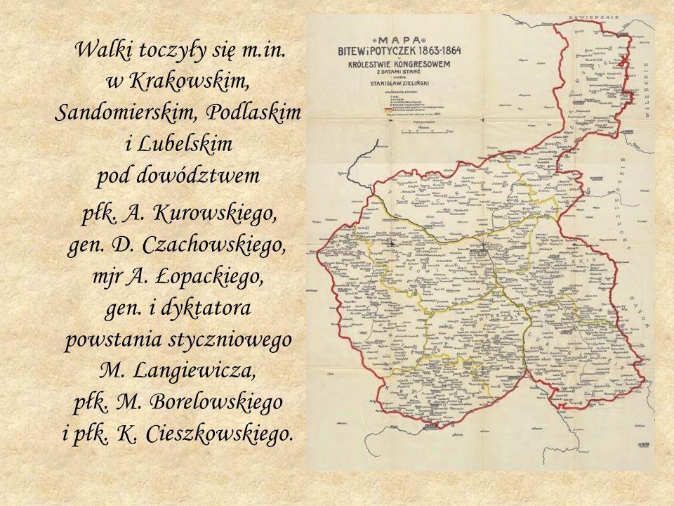 Walki toczyły się m.in. w Krakowskim, Sandomierskim, Podlaskim i Lubelskim pod dowództwem płk. A. Kurowskiego, gen. D. Czachowskiego, mjr A. Łopackieg