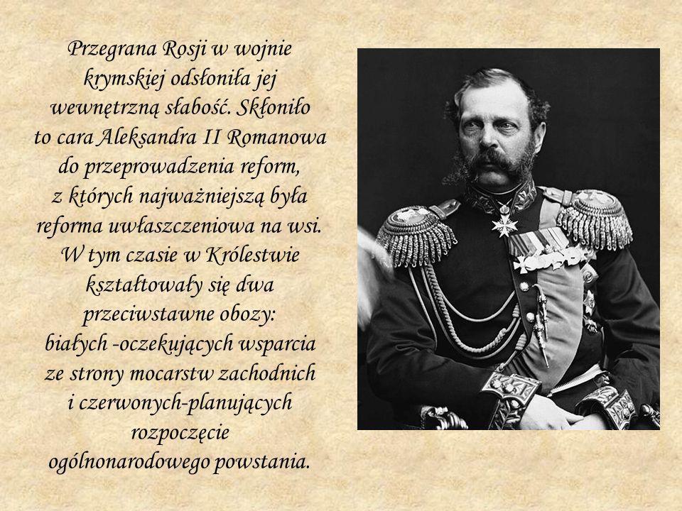 Przegrana Rosji w wojnie krymskiej odsłoniła jej wewnętrzną słabość. Skłoniło to cara Aleksandra II Romanowa do przeprowadzenia reform, z których najw
