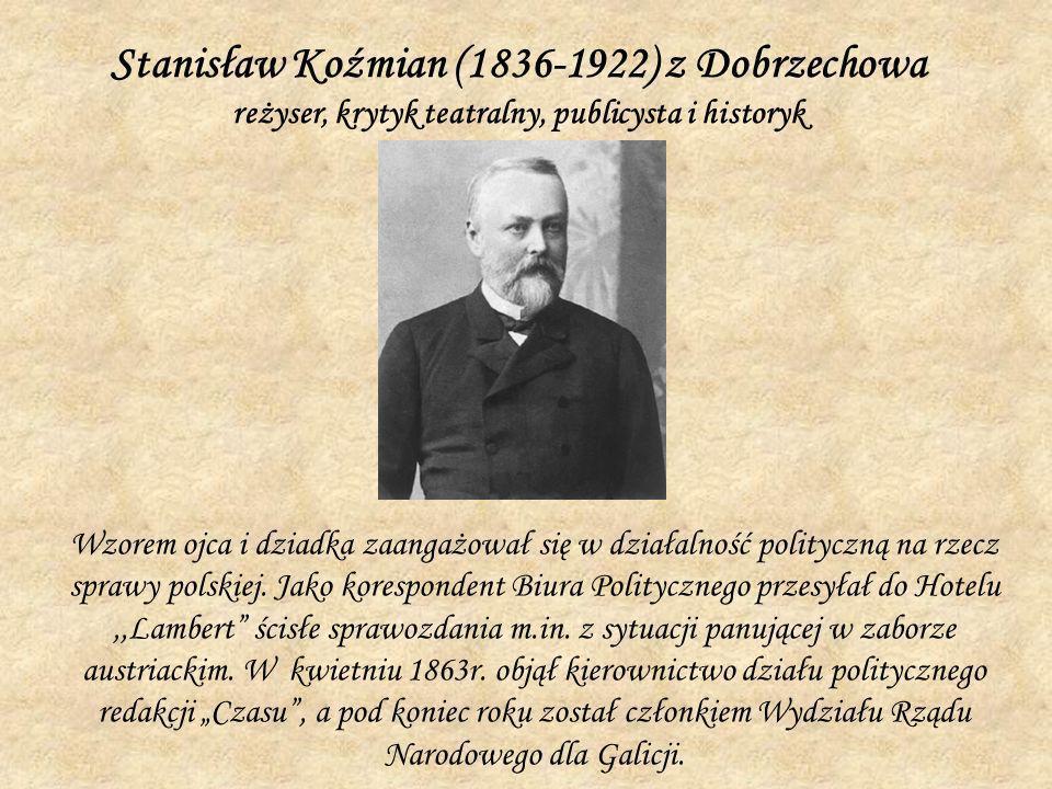Wzorem ojca i dziadka zaangażował się w działalność polityczną na rzecz sprawy polskiej. Jako korespondent Biura Politycznego przesyłał do Hotelu,,Lam