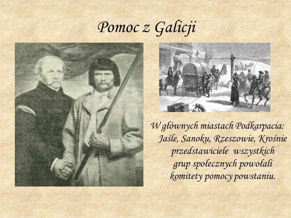 Pomoc z Galicji W głównych miastach Podkarpacia: Jaśle, Sanoku, Rzeszowie, Krośnie przedstawiciele wszystkich grup społecznych powołali komitety pomoc