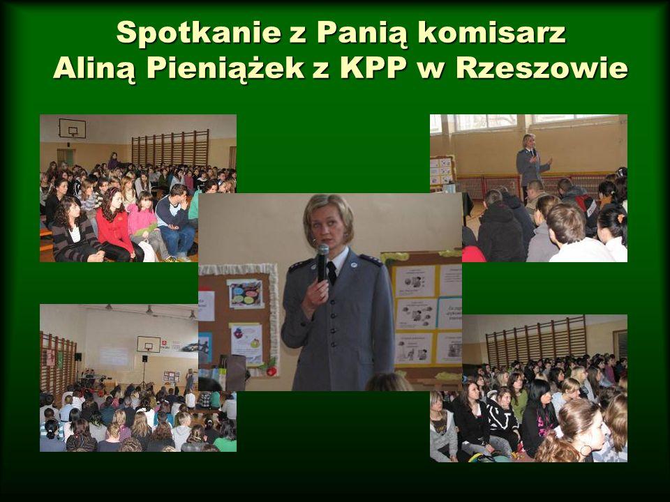 Spotkanie z Panią komisarz Aliną Pieniążek z KPP w Rzeszowie