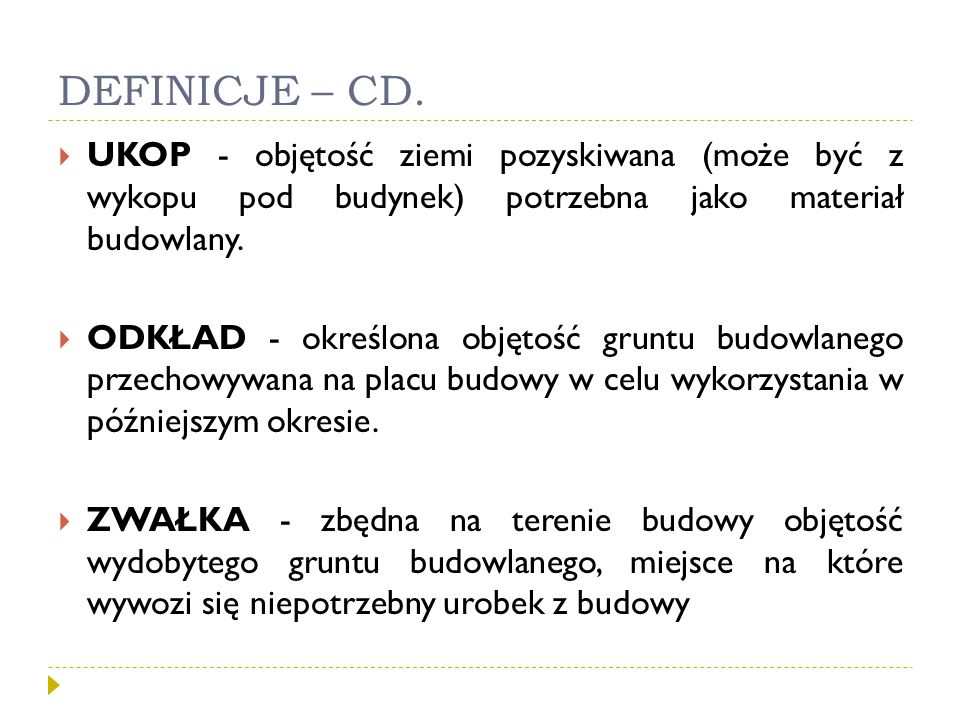 DEFINICJE – CD.