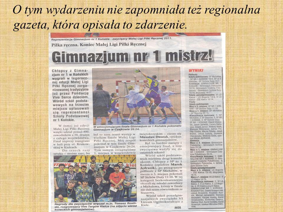 O tym wydarzeniu nie zapomniała też regionalna gazeta, która opisała to zdarzenie.