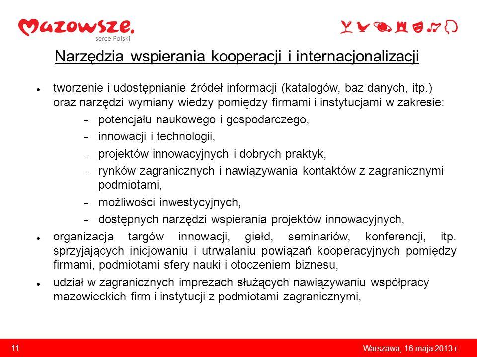 Narzędzia wspierania kooperacji i internacjonalizacji tworzenie i udostępnianie źródeł informacji (katalogów, baz danych, itp.) oraz narzędzi wymiany