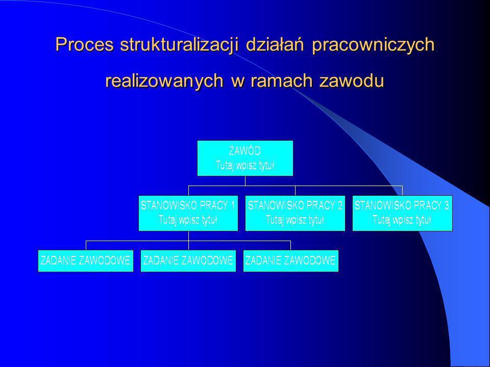 Proces strukturalizacji działań pracowniczych realizowanych w ramach zawodu