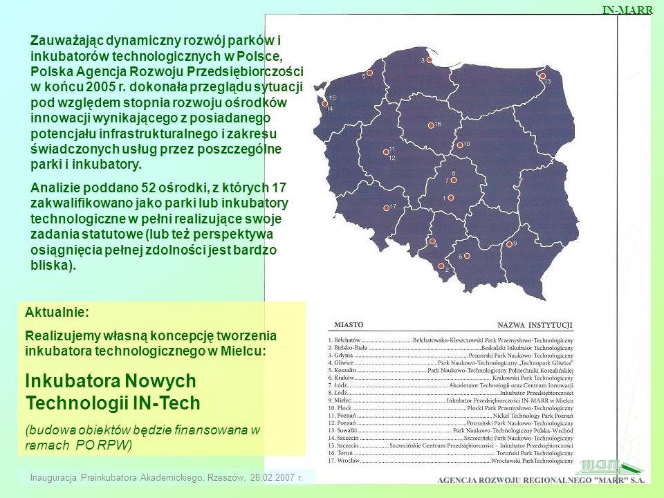 Zauważając dynamiczny rozwój parków i inkubatorów technologicznych w Polsce, Polska Agencja Rozwoju Przedsiębiorczości w końcu 2005 r. dokonała przegl