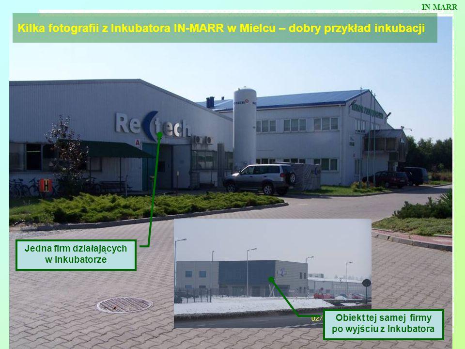 Kilka fotografii z Inkubatora IN-MARR w Mielcu – dobry przykład inkubacji Jedna firm działających w Inkubatorze Obiekt tej samej firmy po wyjściu z In
