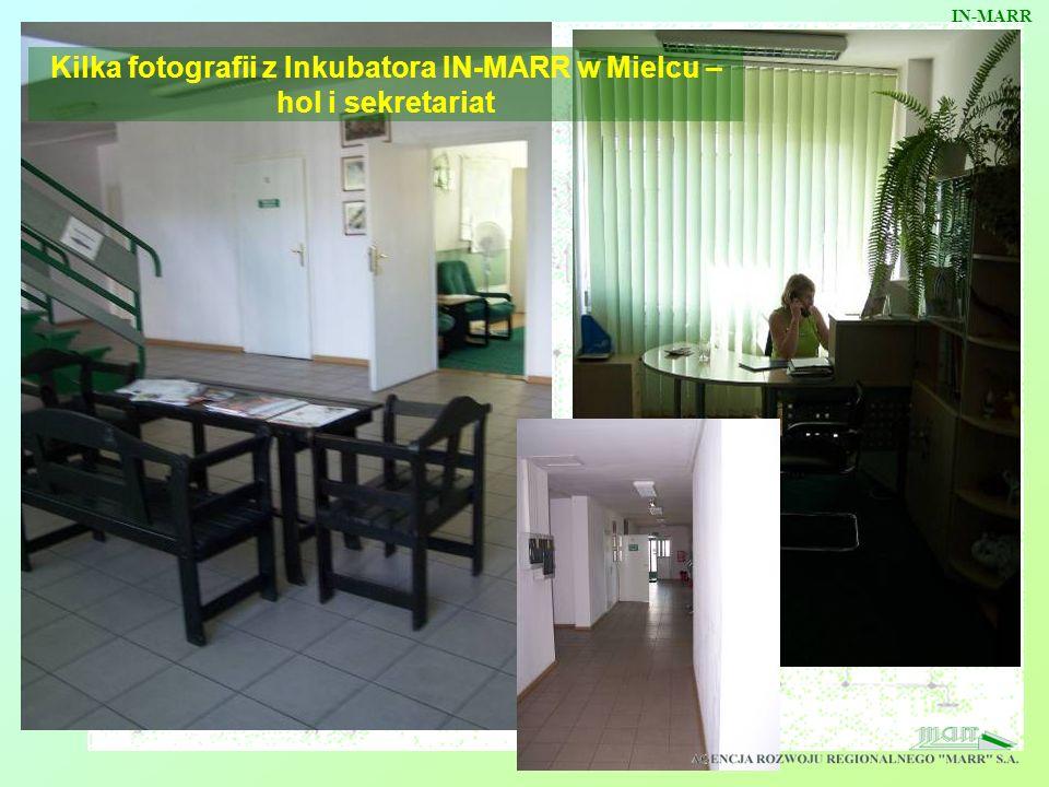 Kilka fotografii z Inkubatora IN-MARR w Mielcu – hol i sekretariat IN-MARR