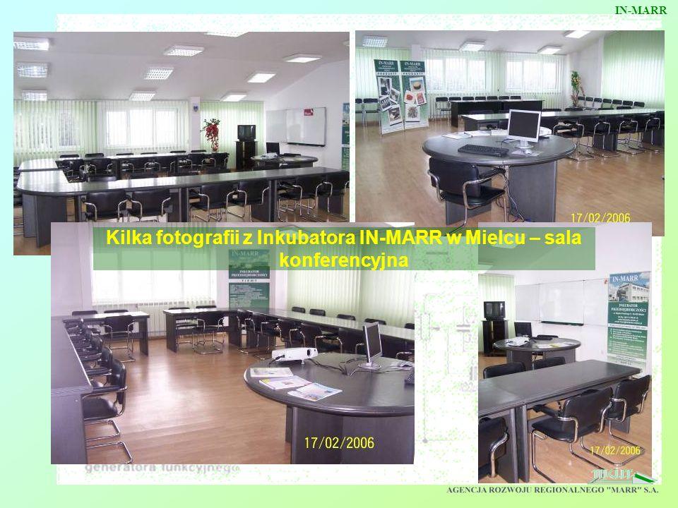 Kilka fotografii z Inkubatora IN-MARR w Mielcu – sala konferencyjna IN-MARR