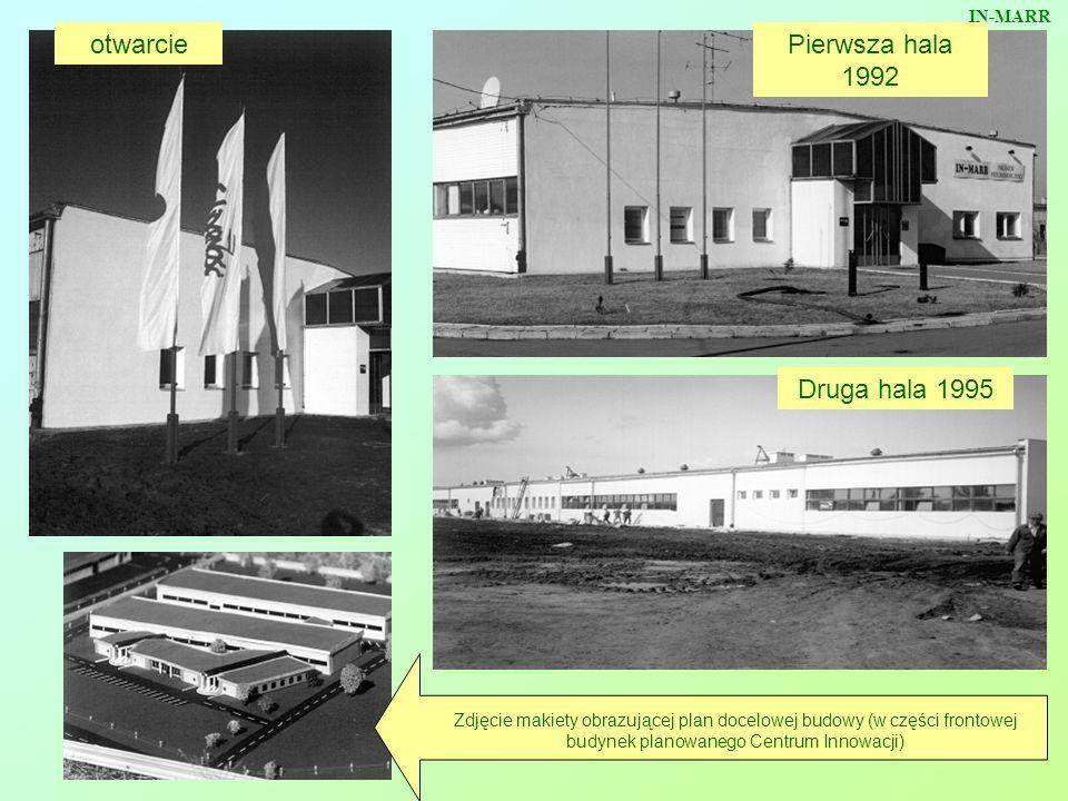 otwarciePierwsza hala 1992 Druga hala 1995 Zdjęcie makiety obrazującej plan docelowej budowy (w części frontowej budynek planowanego Centrum Innowacji