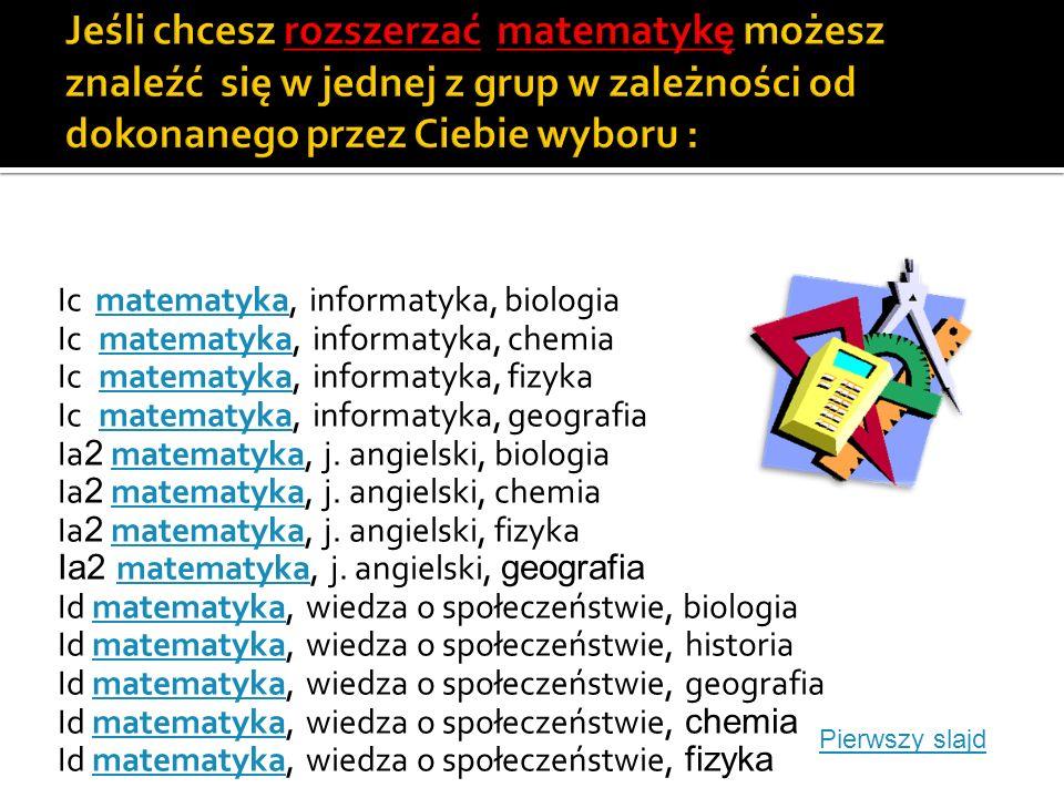 Ia1 j.polski, j. angielski, biologia Ia1 j. polski, j.