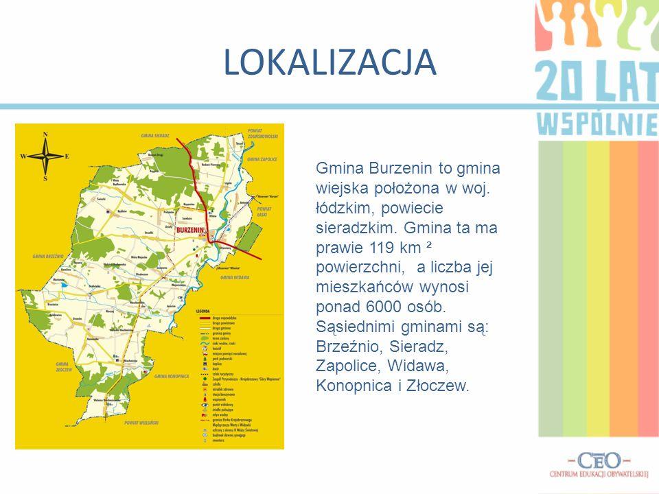 LOKALIZACJA Gmina Burzenin to gmina wiejska położona w woj.