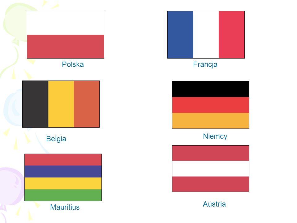 Austria Belgia Mauritius Francja Niemcy Polska