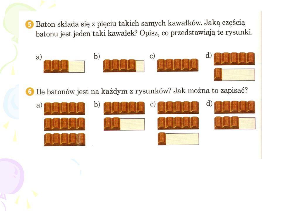 Jeżeli dwa ułamki mają jednakowe liczniki, to ten ułamek jest większy, który ma mniejszy mianownik.