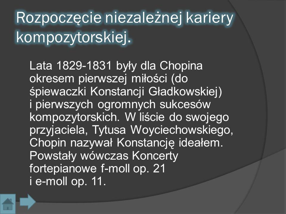 W lipcu 1829, niezwłocznie po ukończeniu studiów, Fryderyk Chopin wraz z przyjaciółmi wyjechał na wycieczkę do Wiednia.