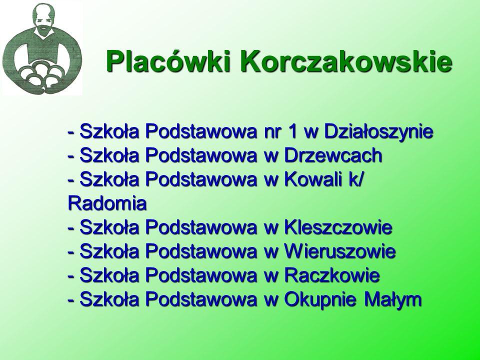- Szkoła Podstawowa nr 1 w Działoszynie - Szkoła Podstawowa w Drzewcach - Szkoła Podstawowa w Kowali k/ Radomia - Szkoła Podstawowa w Kleszczowie - Sz