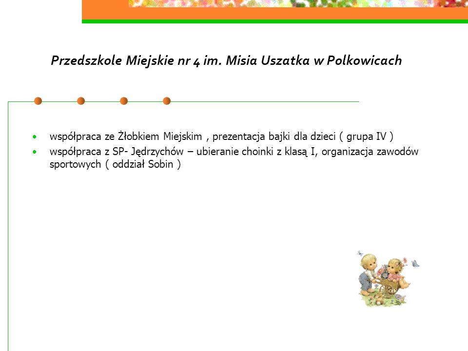 Przedszkole Miejskie nr 4 im. Misia Uszatka w Polkowicach współpraca ze Żłobkiem Miejskim, prezentacja bajki dla dzieci ( grupa IV ) współpraca z SP-