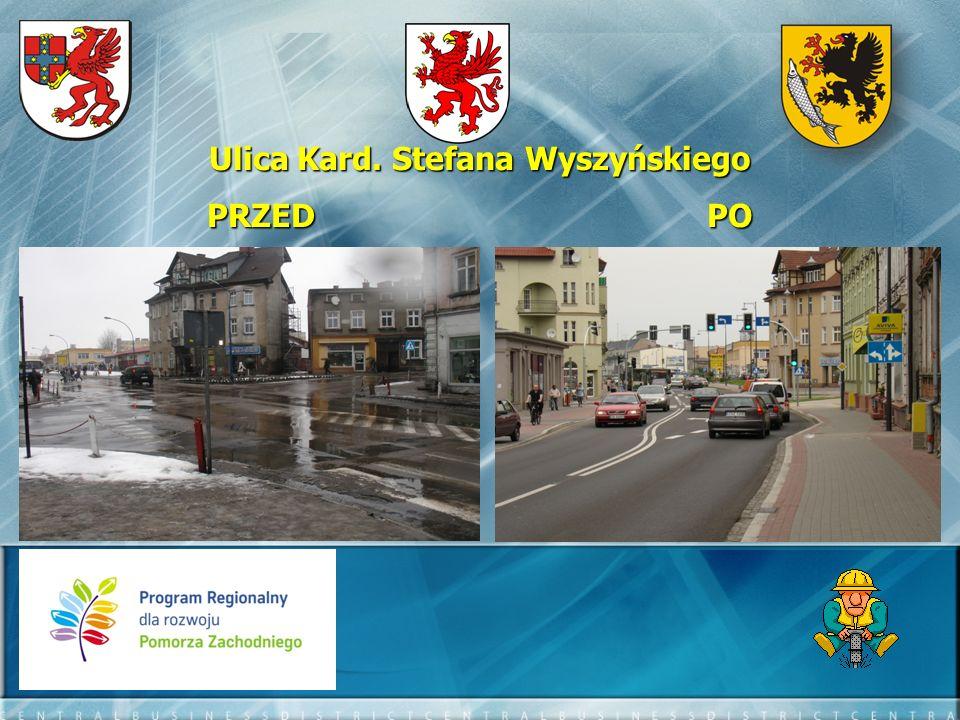 Ulica Szafera i Kaszubska - efekty: - długość przebudowanego odcinka – 529,70 mb - długość ścieżki rowerowej – 625,30 mb - długość przebudowanych chodników – 1143,10 mb - ilość miejsc postojowych 42 szt.