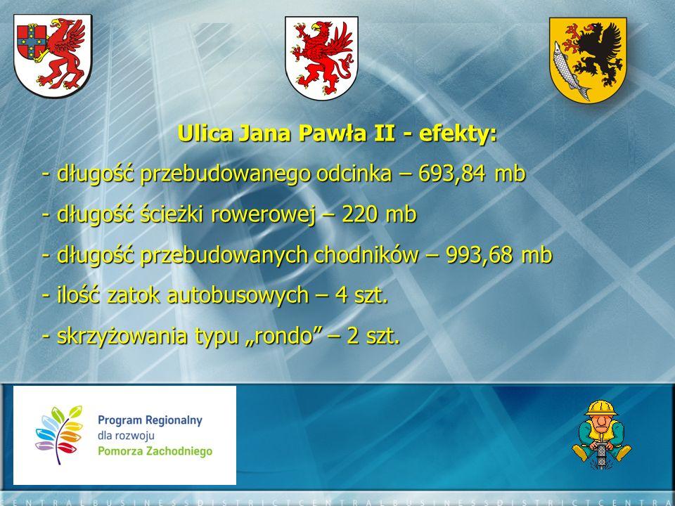 Łącznie w ramach inwestycji drogowych, w których liderem był Powiat Szczecinecki, w latach 2010-2011 osiągnięto następujące efekty: - łączne nakłady na inwestycje drogowe – 24 740 284 zł - 4557,500 mb dróg - 4843,860 mb ścieżek rowerowych - 7522,340 mb chodników - 244 (w tym 8 dla osób niepełnosprawnych) miejsc parkingowych - 16 zatok autobusowych - 1 most drogowy - 2 skrzyżowania z sygnalizacją świetlną - 3 skrzyżowania typu rondo