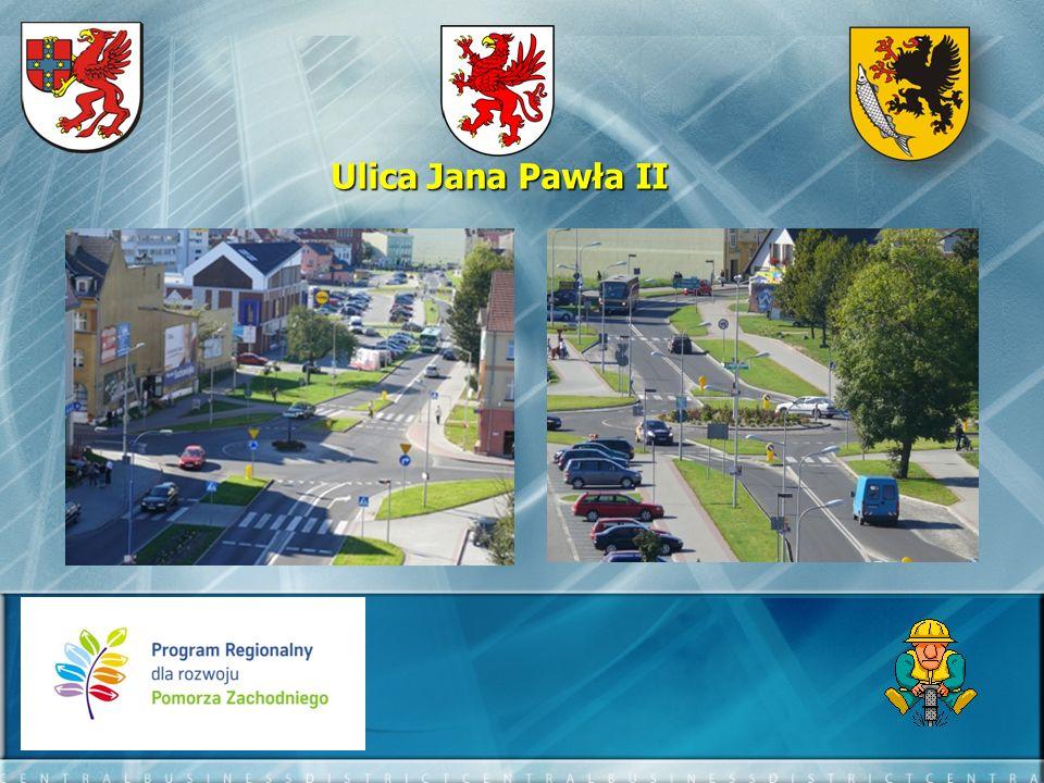 Ulica Polna - efekty: - długość przebudowanego odcinka – 1890 mb - długość ścieżki rowerowej – 1890 mb - długość przebudowanych chodników – 2600 mb - ilość zatok autobusowych – 4 szt.