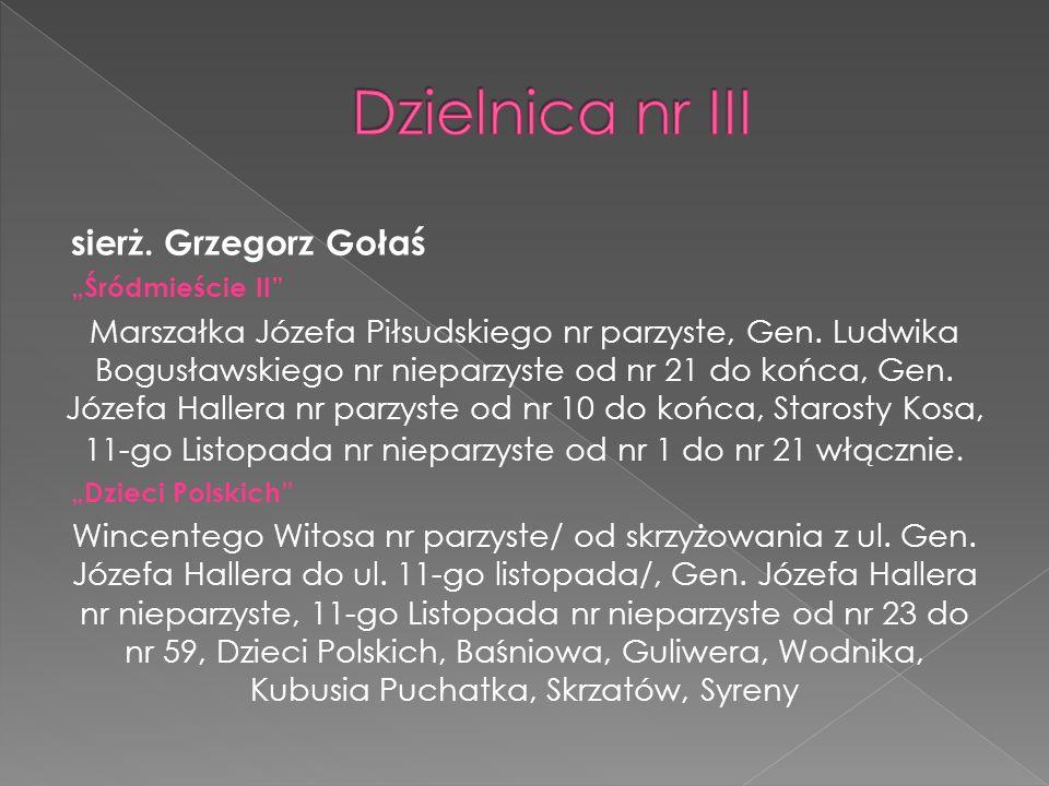 mł.asp. Łukasz Trojanowski Parkowe Szkolna, Adama Chętnika, Gen.