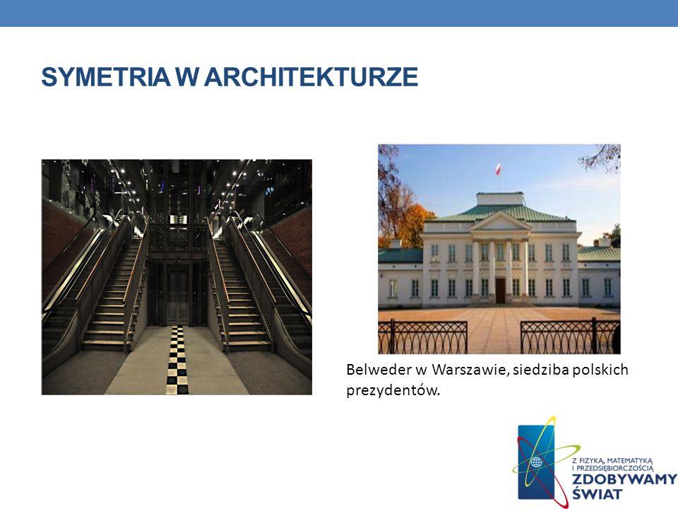 SYMETRIA W ARCHITEKTURZE Belweder w Warszawie, siedziba polskich prezydentów.