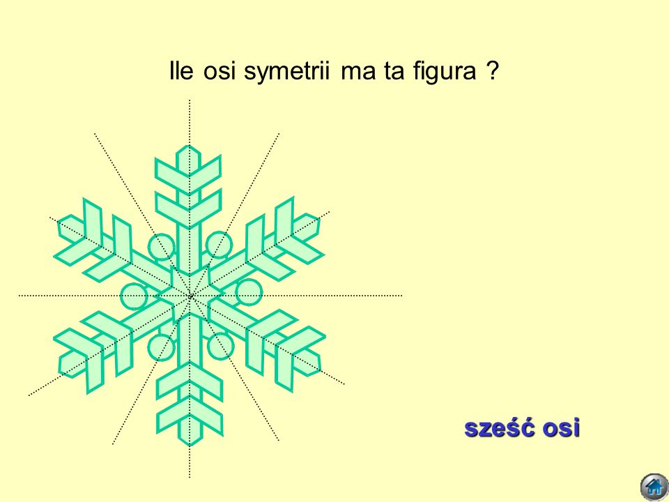 Ile osi symetrii ma ta figura ? pięć osi